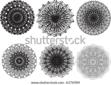 vector pattern rosette guilloche for document - stock vector