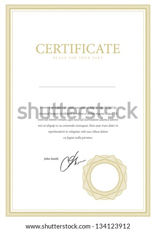 Vector pattern that is used in currency and diplomas - stock vector
