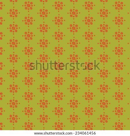 Vector pattern - vintage flower texture - stock vector
