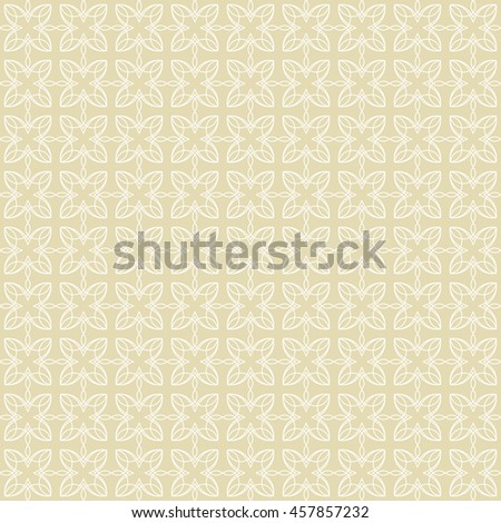 Vector pattern with art ornament. Elements for design . Ornamental lace tracery backgroun .Beige white. - stock vector