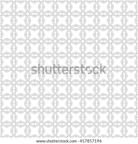 Vector pattern with art ornament. Elements for design . Ornamental lace tracery backgroun .Gray white. - stock vector