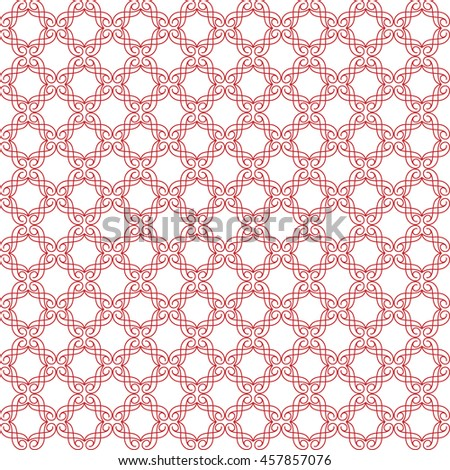 Vector pattern with art ornament. Elements for design . Ornamental lace tracery backgroun .Red white. - stock vector