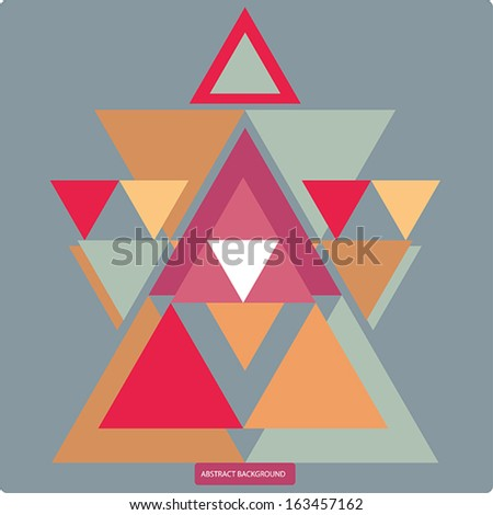 Vector pattern with colorful geometric shapes, triangles.Colorful backdrop, background pattern, retro style banner. - stock vector