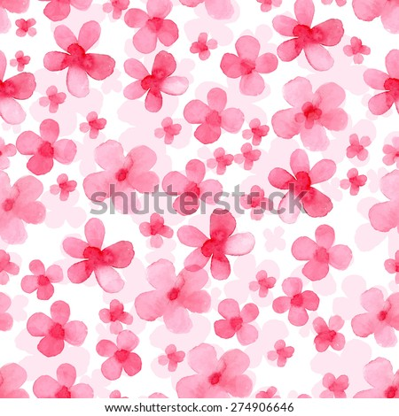 Vector pattern with flowers . Original floral seamless background.