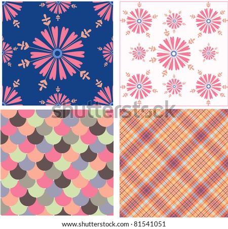 Vector patterns color ideas - stock vector