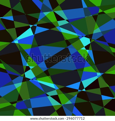 Vector patterns, polygon art colored abstract illustration. Contrast borders and frames. Web and mobile interface template. Corporate website design. Black dark blue cyan green indigo - stock vector