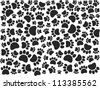 vector paw pattern - stock photo