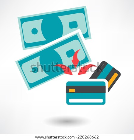 Vector Pay by Credit Card Icon - stock vector
