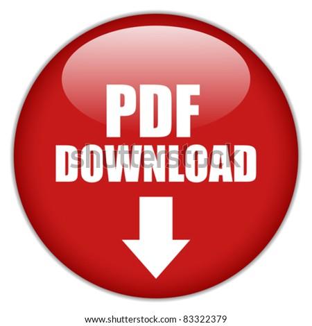 Vector pdf download button, eps10 - stock vector