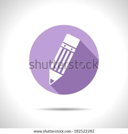 Vector pencil icon. Eps10 - stock vector