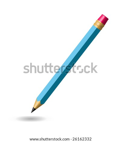 Vector pencil isolated on white background