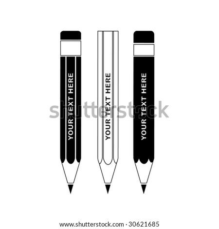 Vector pencils icon - stock vector