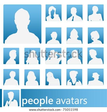 vector people avatars - stock vector