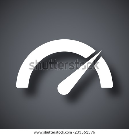 Vector performance measurement icon - stock vector