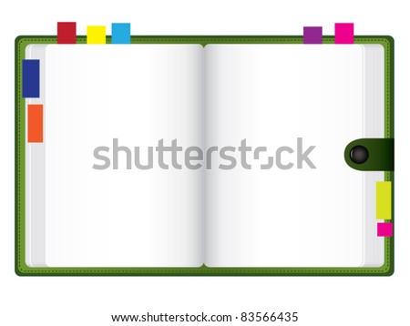 Vector personal organizer - stock vector