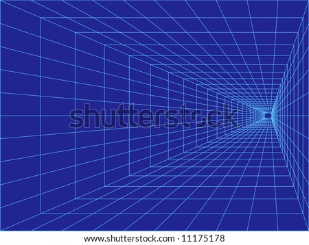 vector perspective grid great business background - stock vector