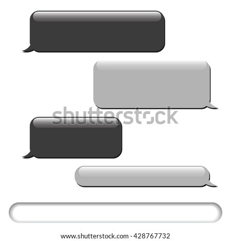 Vector phone chat bubbles. Sms messages. Speech bubbles. Short message service bubbles, chat. Chat symbol. Vector illustration - stock vector
