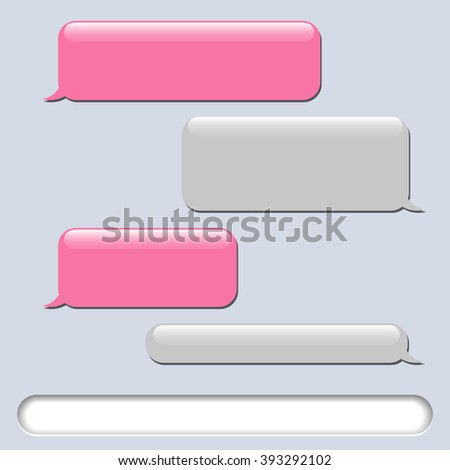 Vector phone chat bubbles. Sms messages. Speech bubbles. Short message service bubbles. Vector illustration - stock vector