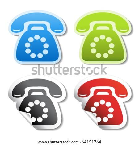 Vector phone stickers - stock vector