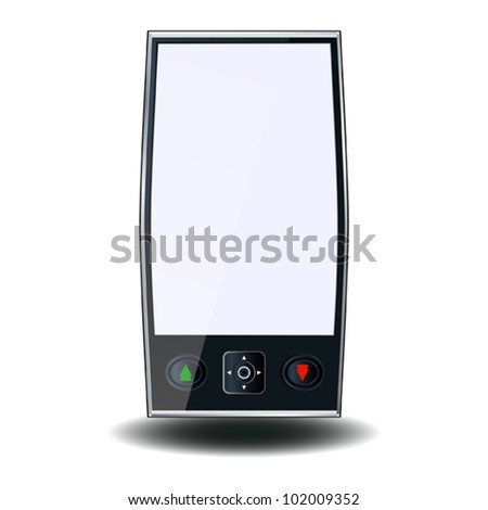 Vector phone with blank display