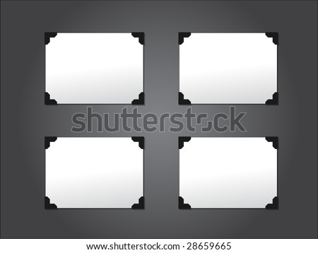 vector photo album - stock vector