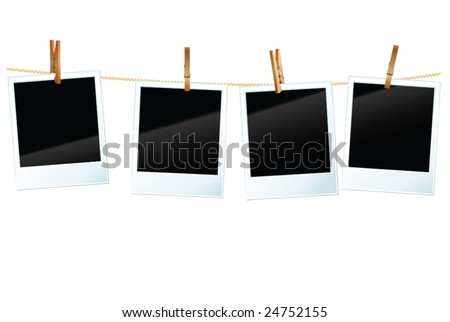 vector photo blanks - stock vector