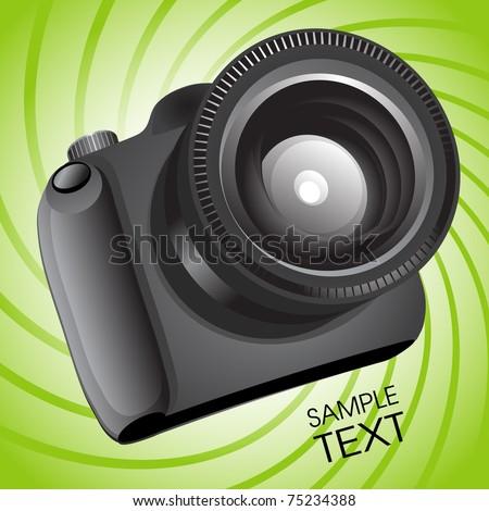 Vector photo camera - stock vector