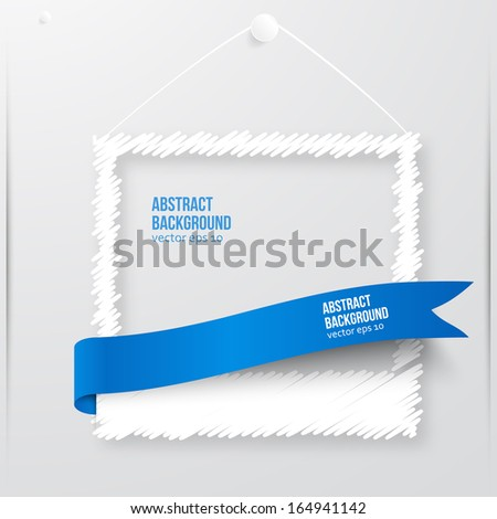 Vector photo frame banner. Vector illustration zigzag. - stock vector