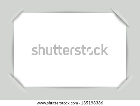 Vector photo frame corners. Illustration for design on a green background