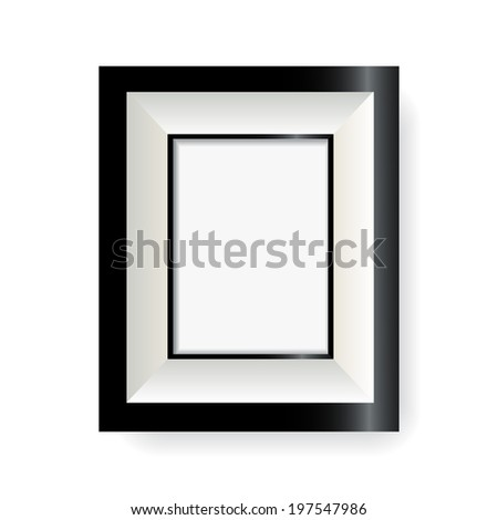 vector photo frame on a white