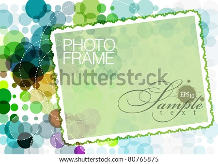 vector photo frame on an abstract background - stock vector
