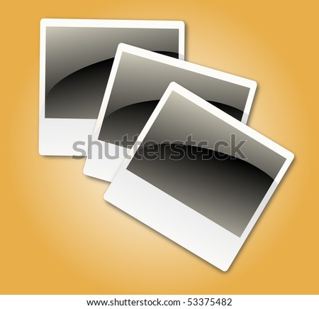 Vector photo frames - stock vector
