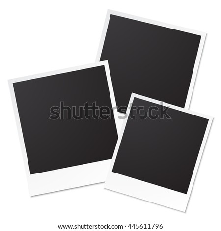 Vector photo frames isolated on white background - stock vector