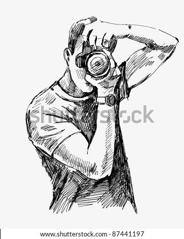 Vector Photographer - stock vector