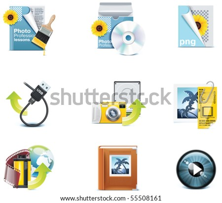 Vector photography icons. Part 3 - stock vector