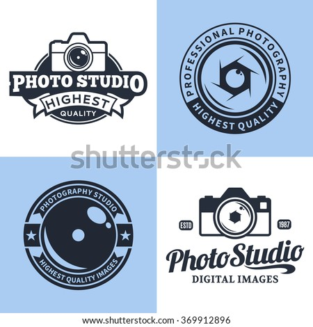 camera shutter lenses photo camera icons stock vector