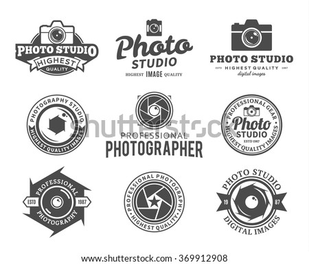 vector photography logo camera shutter photo stock vector