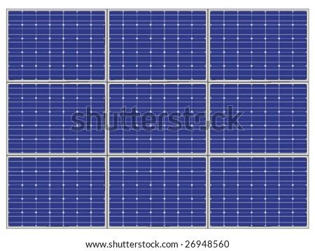 vector photovoltaic panel - stock vector