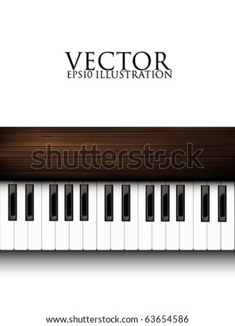 vector piano keyboard - stock vector