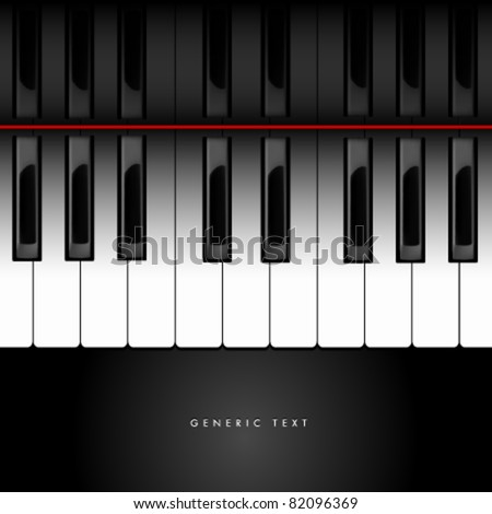 Vector Piano Keyboard Background - stock vector
