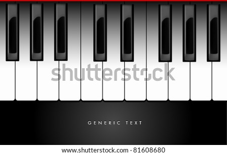 Vector Piano Keyboard Design - stock vector