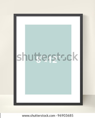 Vector picture frame for a presentation of photos or illustrations - stock vector