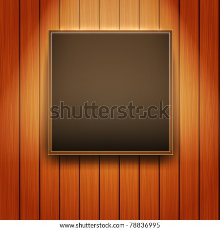 Vector Picture Frame on Wall - Realistic Design - stock vector