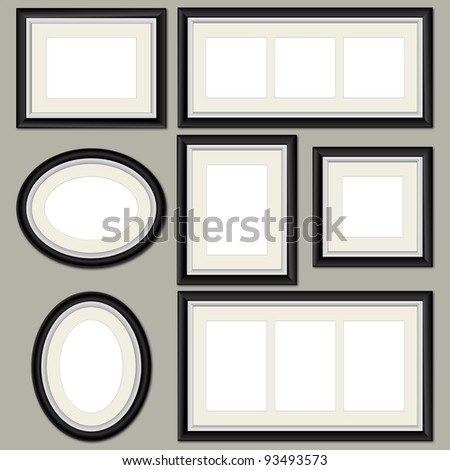 Vector Picture Frames - stock vector