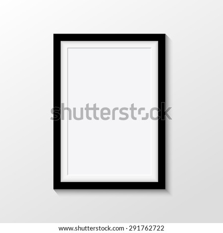 Vector picture frames on white background - stock vector
