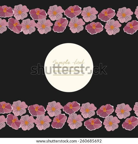 Vector picture with different flowers