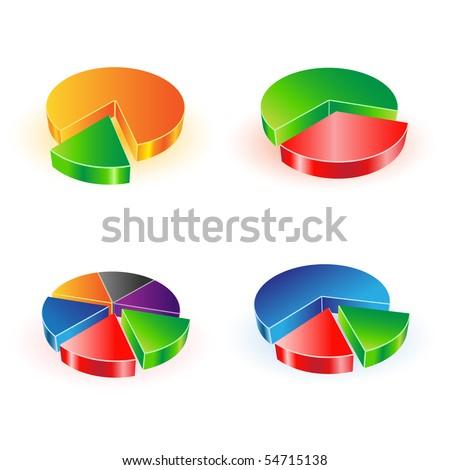 vector pie chart set - stock vector