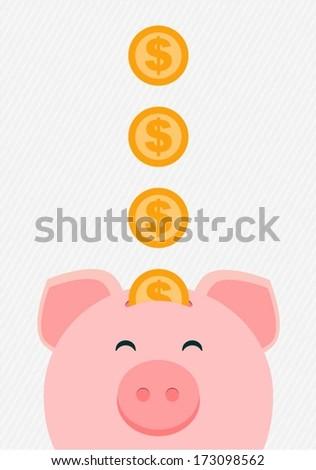vector piggy bank - stock vector