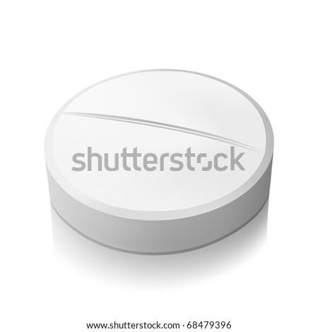 Vector pill - stock vector