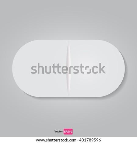 Vector pill icon  - stock vector
